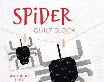 PDF Halloween Quilt Pattern - Spider quilt pattern