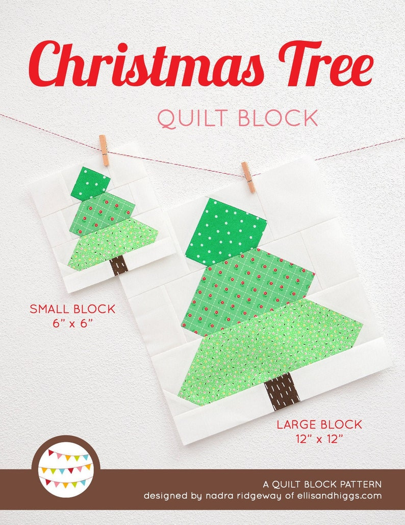 PDF Christmas Quilt Pattern  Christmas Tree quilt pattern image 0