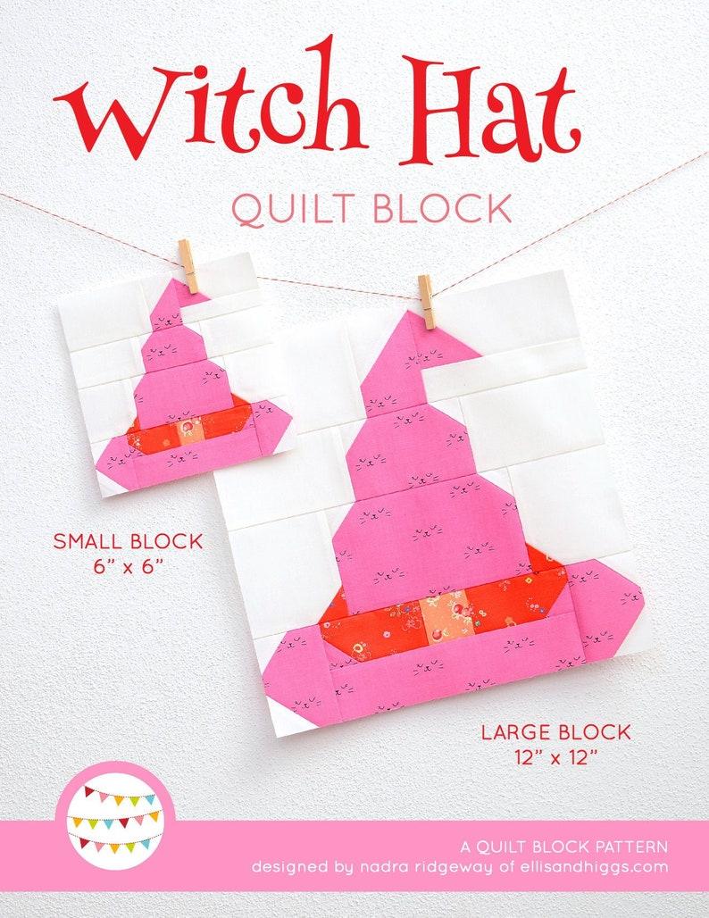 PDF Halloween Quilt Pattern  Witch Hat quilt pattern image 0