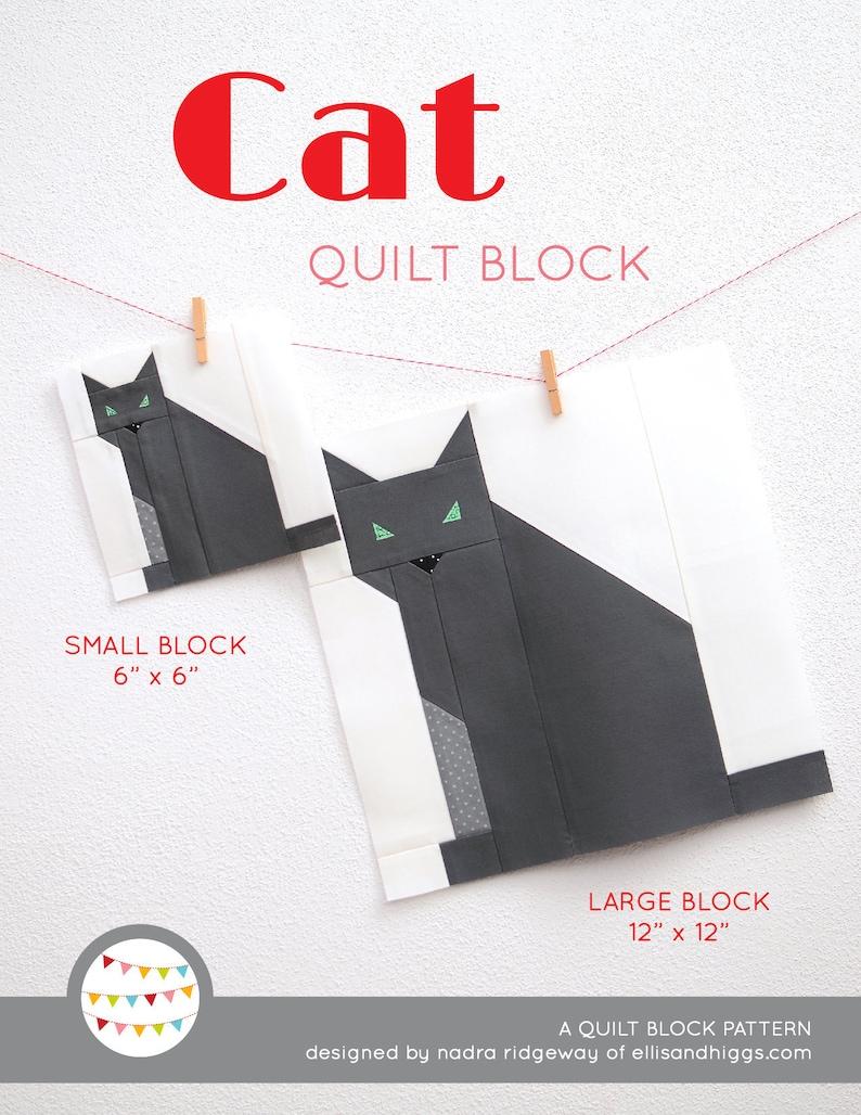 PDF Halloween Quilt Pattern  Cat quilt pattern image 0
