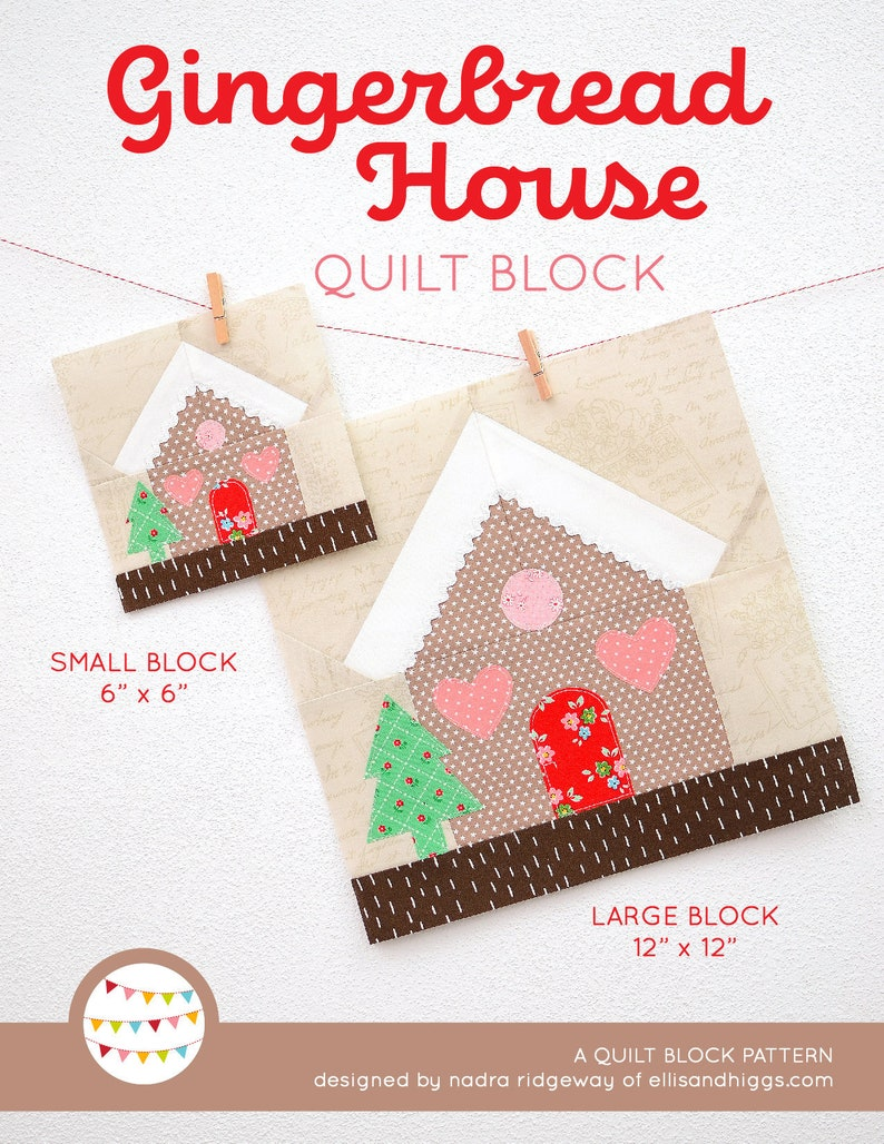 PDF Christmas Quilt Pattern  Gingerbread House quilt pattern image 0