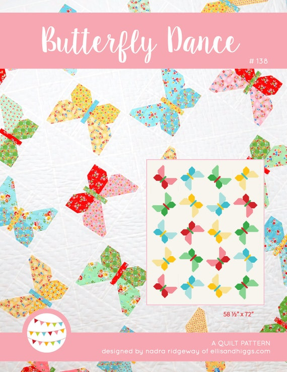 PDF Spring Quilt Pattern - Butterfly Quilt