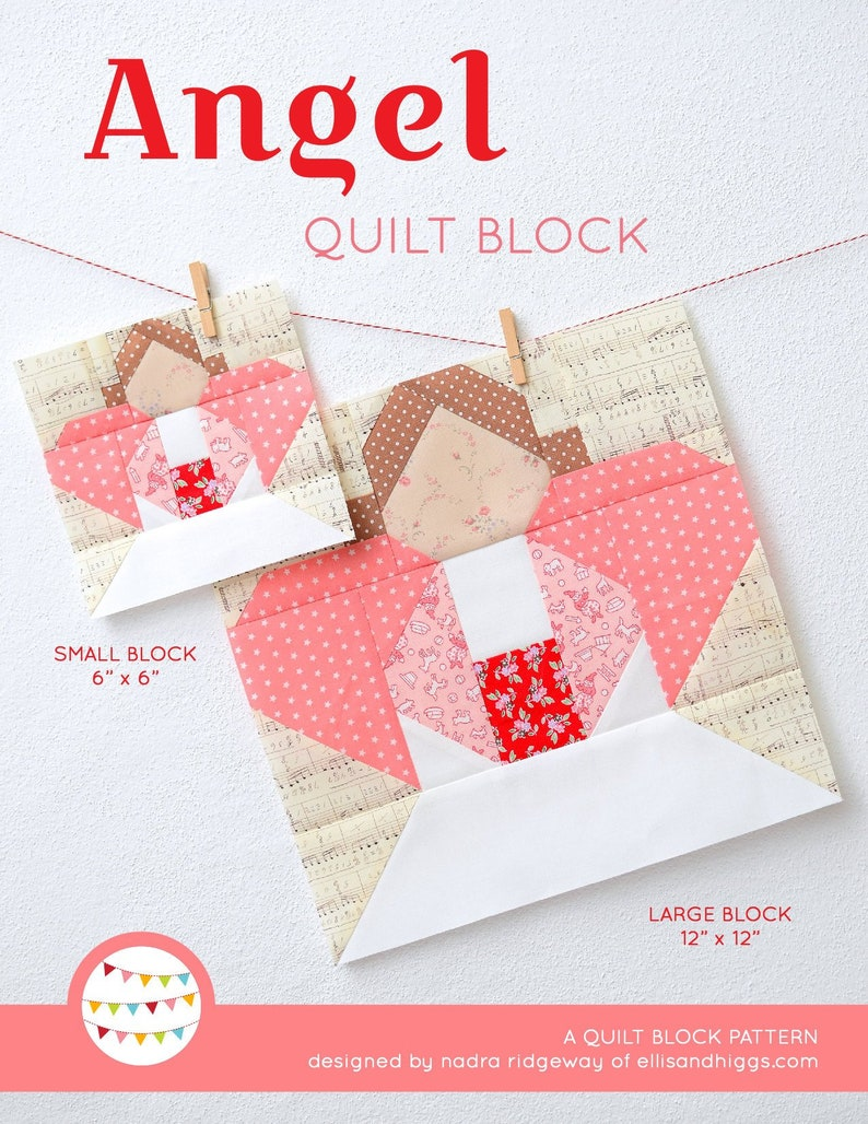PDF Christmas Quilt Pattern  Angel quilt pattern image 0