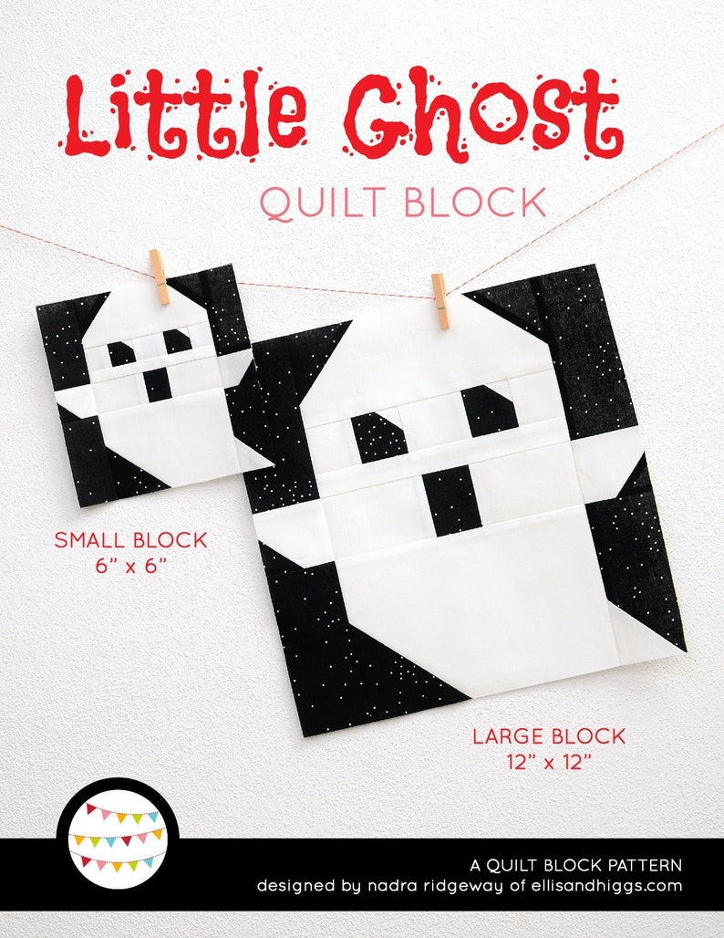 PDF Halloween Quilt Pattern  Ghost quilt pattern image 0