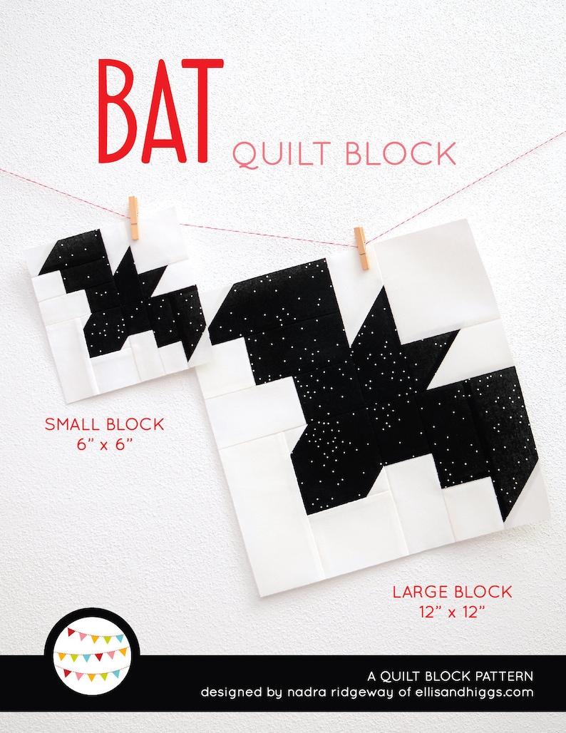 PDF Halloween Quilt Pattern  Bat quilt pattern image 0