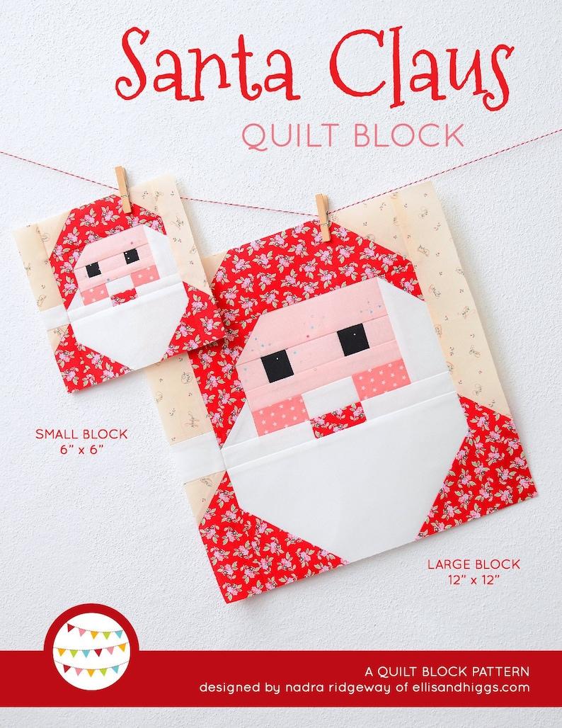 PDF Christmas Quilt Pattern  Santa Claus quilt pattern image 0