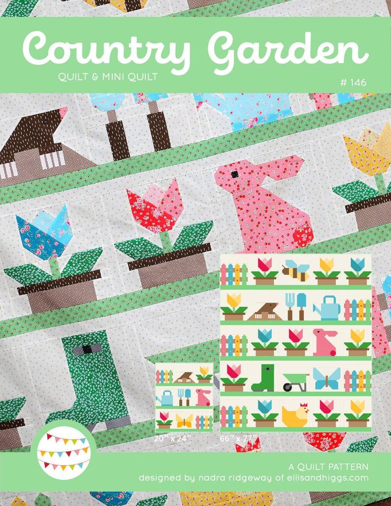 PDF Country Garden Quilt Pattern Bundle image 0