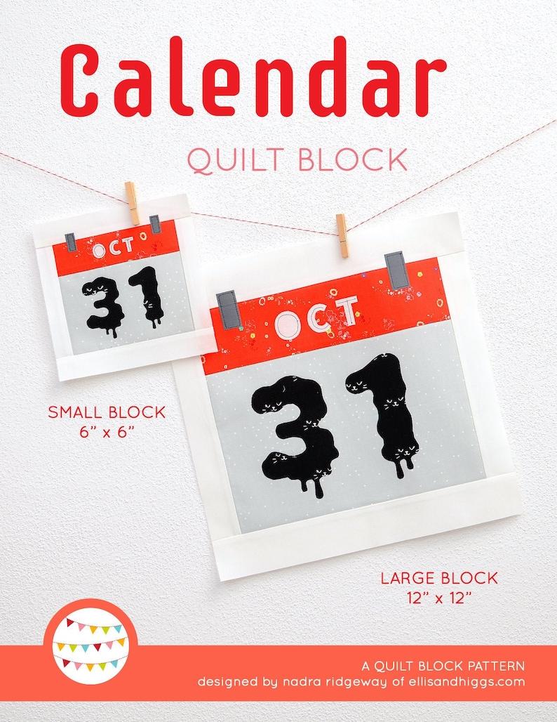 PDF Halloween Quilt Pattern  Calendar quilt pattern image 0