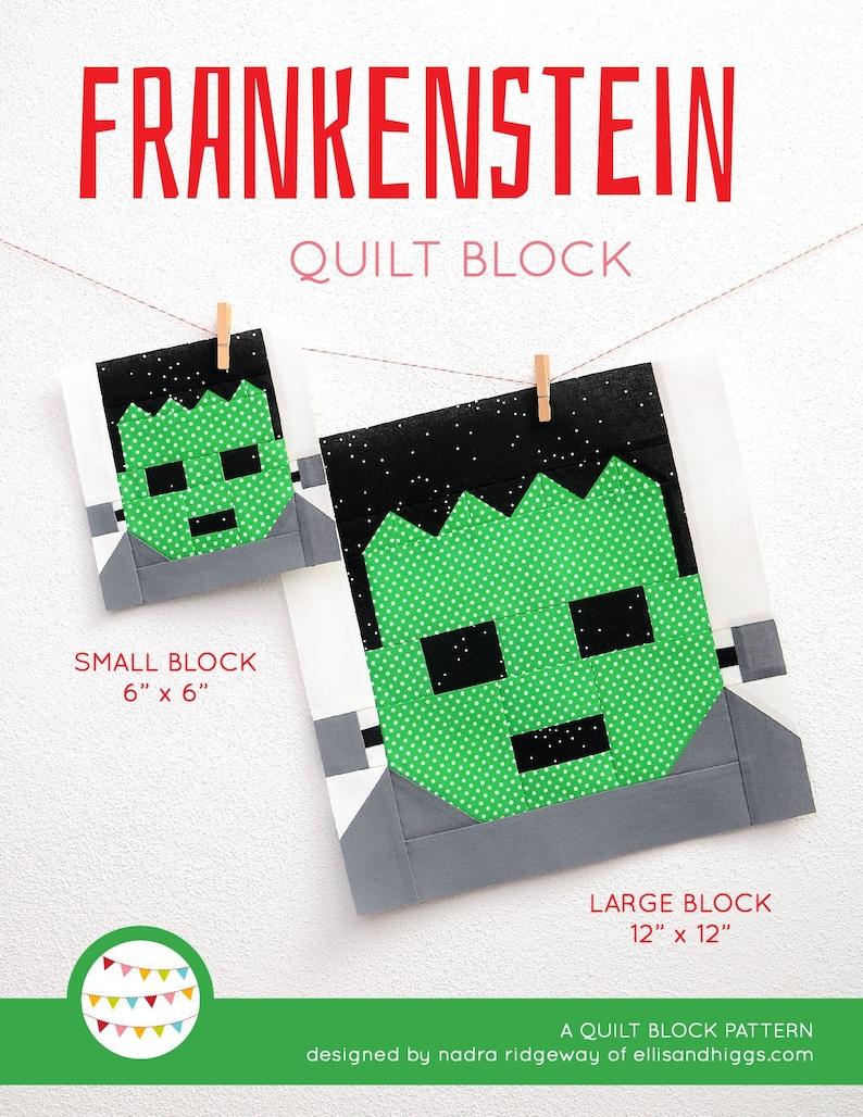 PDF Halloween Quilt Pattern  Frankenstein quilt pattern image 0