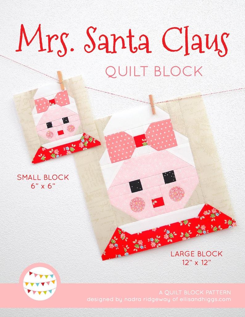 PDF Christmas Quilt Pattern  Mrs. Santa Claus quilt pattern image 0