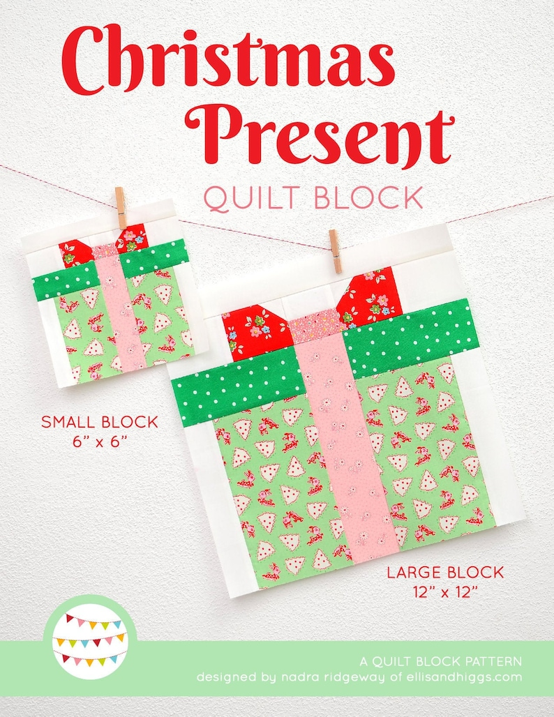 PDF Christmas Quilt Pattern  Christmas Present quilt pattern image 0