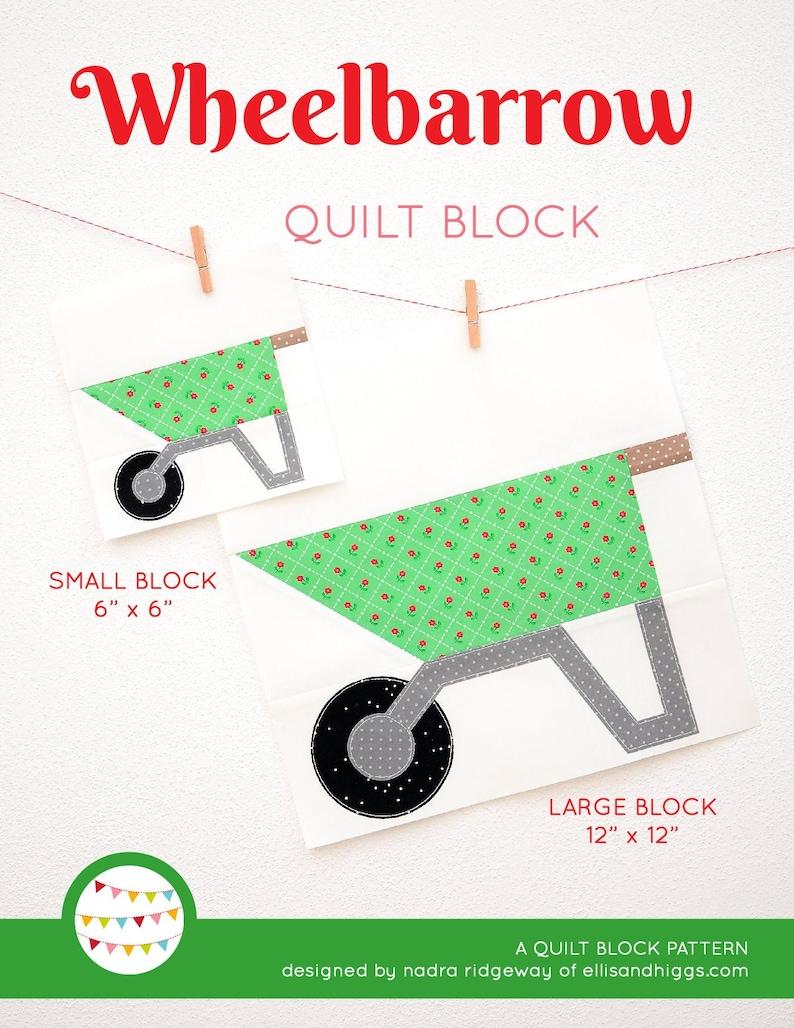 PDF Spring Quilt Pattern  Wheelbarrow quilt pattern image 0