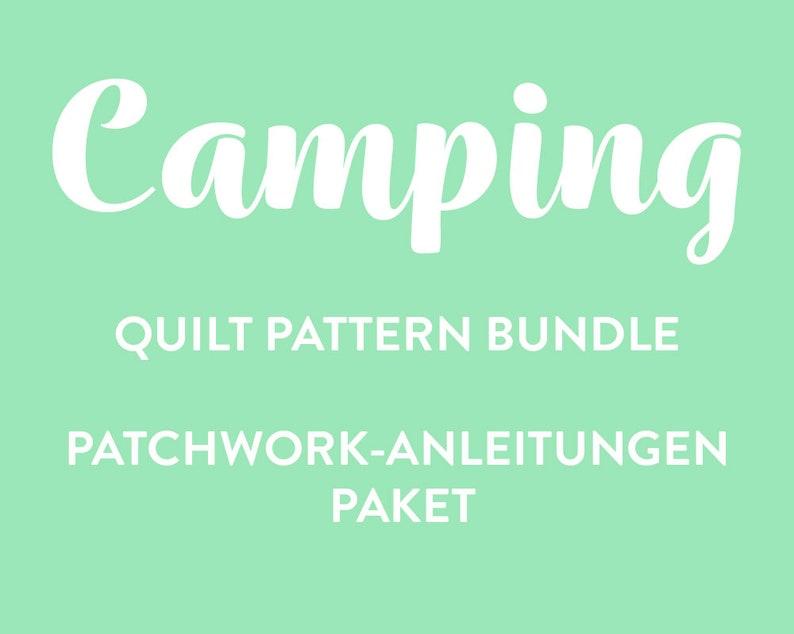 Camping PDF Quilt Pattern Bundle image 0
