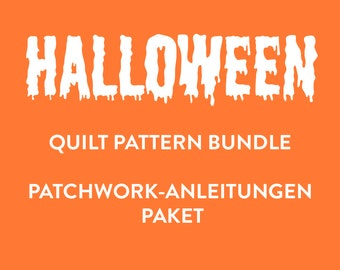 PDF Halloween Quilt Pattern Bundle