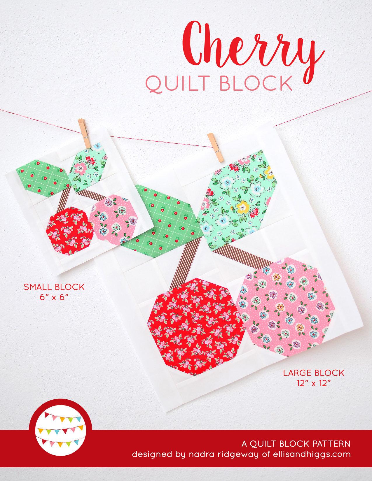 PDF Quilt Block Anleitung Cherry