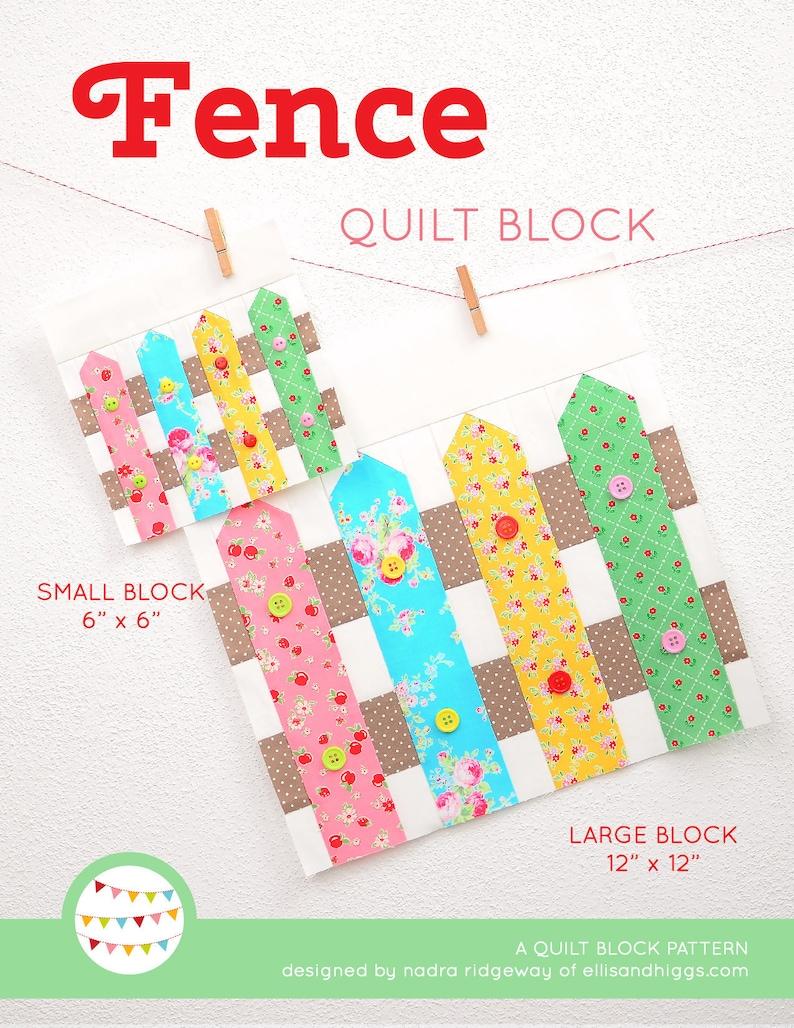 PDF Spring Quilt Pattern  Fence quilt pattern image 0