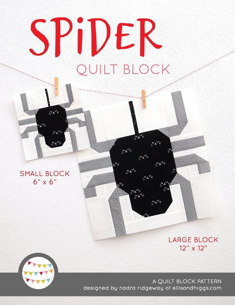 PDF Halloween Quilt Pattern  Spider quilt pattern image 0