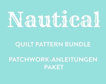 PDF Nautical Quilt Pattern Bundle