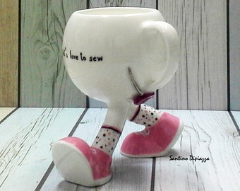 sewing gift mug, sewing gifts, sewing coffee mug, sewing gift ideas, gift ideas for sewers, gift ideas for quilters, gifts for women, Teacup