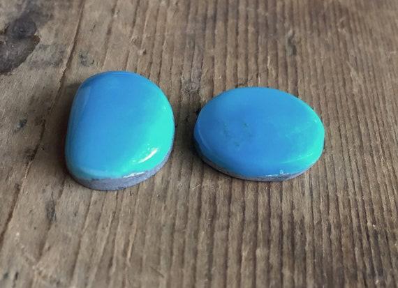 Cabochons de turquoise américaines américaines turquoise bleu naturel ensemble 22,8 ct b2de7d