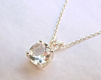 Herkimer pendant etsy faceted 7 mm herkimer diamond pendant herkimer diamond jewelry herkimer pendant quartz crystal necklace herkimer diamond aloadofball Image collections