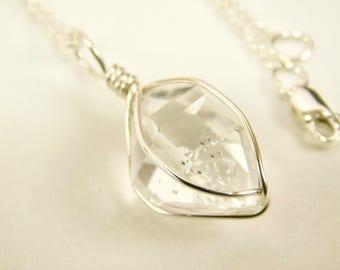 Herkimer pendant etsy ny herkimer diamond pendant 11 x 15 mm sterling silver crystal pendant mariel cristofar jewelry herkimer diamond herkimer pendant aloadofball Image collections