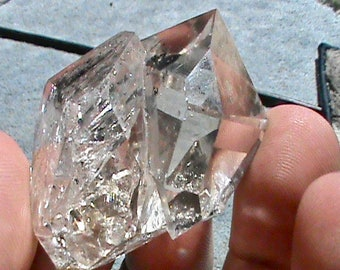 Herkimer Diamond TWIN NY Quartz Crystal LARGE Natural Clear High Quality Double Terminated Uncut Crystal Specimen