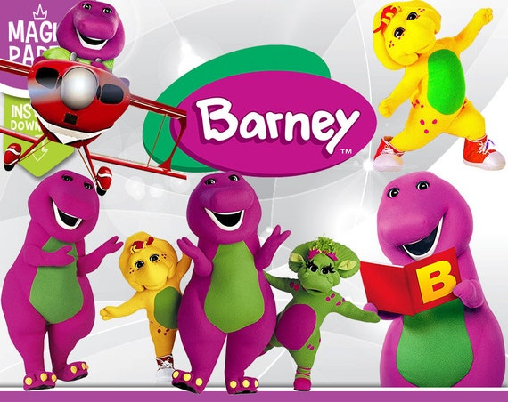 Barney Clipart Digital 300 Dpi Png Images Photos Etsy