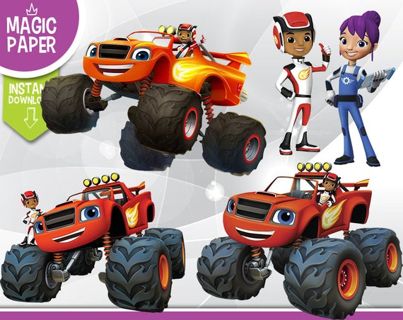 Blaze And The Monster Machines Clipart Digital 300 Dpi Png Etsy