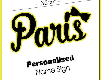 Kids Name Sign - Room Decor - Emma Yellow Wiggle Sign - Kids Theme Decor - Acrylic Name Plaque