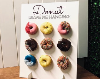 9/18 White Donut Wall Stand / Donut Leave me Hanging | Party Event Decoration | Donut Bar Birthday Display | Cake Table