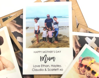 Personalised Photo Mothers Day Magnet | Gift | Custom Made | Eco Bamboo | Wooden | Acrylic | Any Occasion