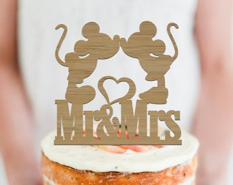 Minnie & Mickey Mr and Mrs Silhouette -  Wedding Cake Topper -  Cake Party Decoration - Event Decor  /  Express Shipping