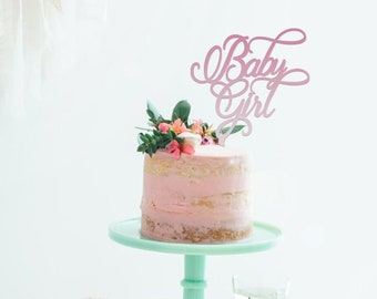 Baby Girl - Baby Shower Cake Topper -  Cake Decoration - Party - Celebration / Express Postage