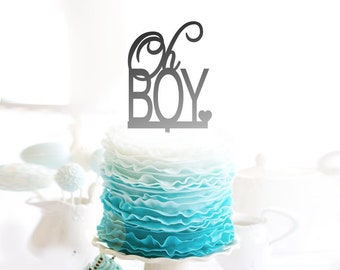 Oh Boy - Baby Shower Cake Topper -  Cake Decoration - Party - Celebration - Surprise - Reveal - Boy - Girl / Express Postage