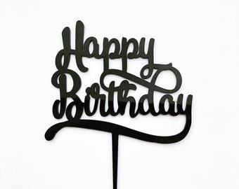 Happy Birthday -  Cake Topper - Glitter / Acrylic / Mirror - Cake Decoration / Party decor - EXPRESS POST