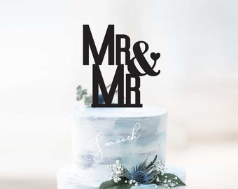 Personalised Mr&Mr Wedding Cake Topper | Gay Couple Cake Topper Decoration | EXPRESS SHIPPING