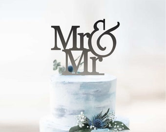 Mr and Mr  - Male Mr&Mr Engagement - Wedding - Cake Topper | Gay Couple Cake Topper Party Decoration | EXPRESS SHIPPING