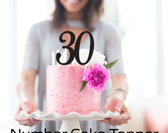 Birthday Cake Topper - Number - Personalise with Age - Cake Decoration - Party - Celebration - Express Postage