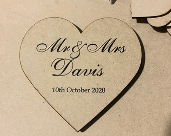 Guest Book Middle Heart Only - for drop Box Frame - Wedding decor Events Birthdays - Any Text