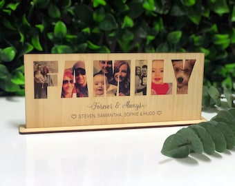 Personalised Wooden Photo Print - FAMILY -  UV Printed - Gift - Custom Photo on Wood - Birthday - Keepsake - Mothers Day - Christmas