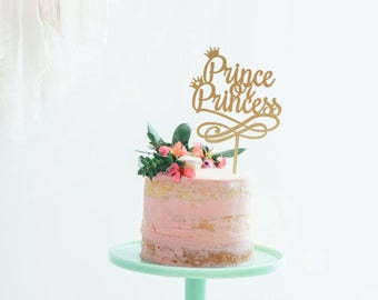 Prince or Princess - Baby Shower Cake Topper -  Cake Decoration - Party - Celebration - Surprise - Reveal - Boy - Girl / Express Postage