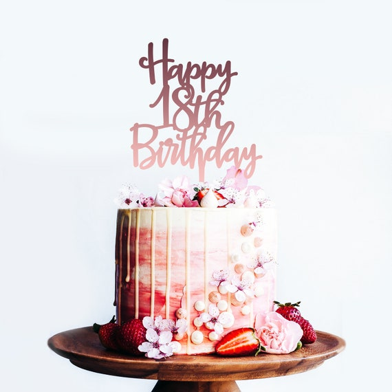 Brilliant Happy 18Th Birthday Age Birthday Cake Topper Cake Etsy Personalised Birthday Cards Veneteletsinfo