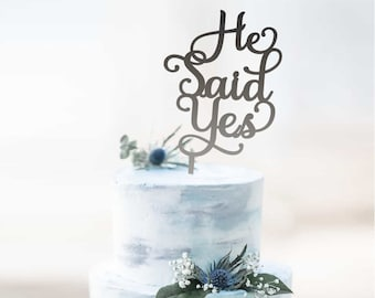 He Said Yes - Male Mr&Mr Engagement - Wedding - Cake Topper | Gay Couple Cake Topper Party Decoration | EXPRESS SHIPPING
