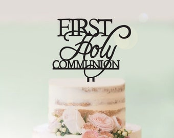 First Holy Communion - Personalised - Religious Cake Topper - Express Postage