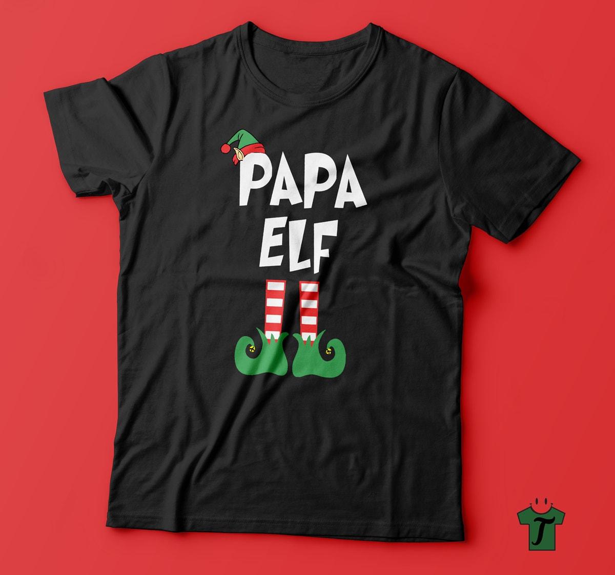 Papa Elf T Shirt-Papa Weihnachten Geschenk-lustige Geschenk | Etsy
