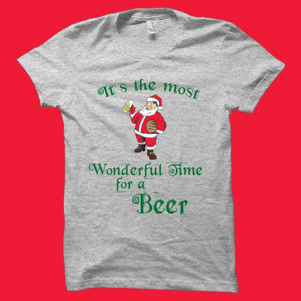 Weihnachten Bier Shirt-Weihnachten Geschenke Weihnachten Bier Geschenke-Bier Geschenke-Mann Geschenke Weihnachten T-Hemden-Weihnachts-Kleidung-lustige ...