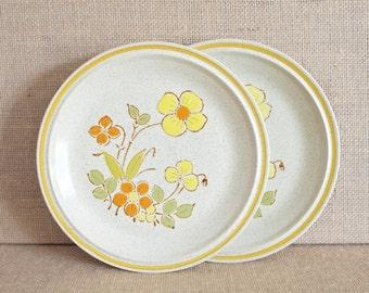 Vintage Hearthside Garden Festival Plates - Sunshine Flowers Pattern - 2 Plates