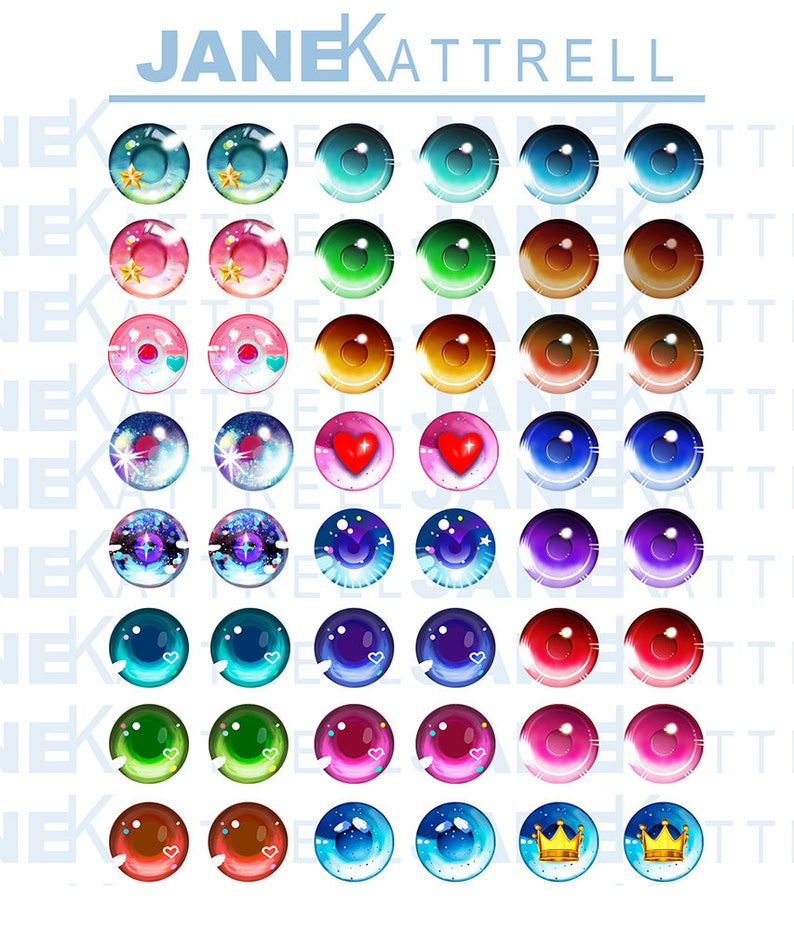 photo about Eye Printable named Blythe Printable Do-it-yourself Eye Chips PDF Anime 1 Topic