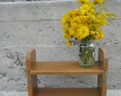 wooden bench wood stool Plant Stand primitive stand